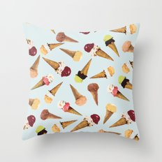 water paints icecream home decor pattern Throw Pillow