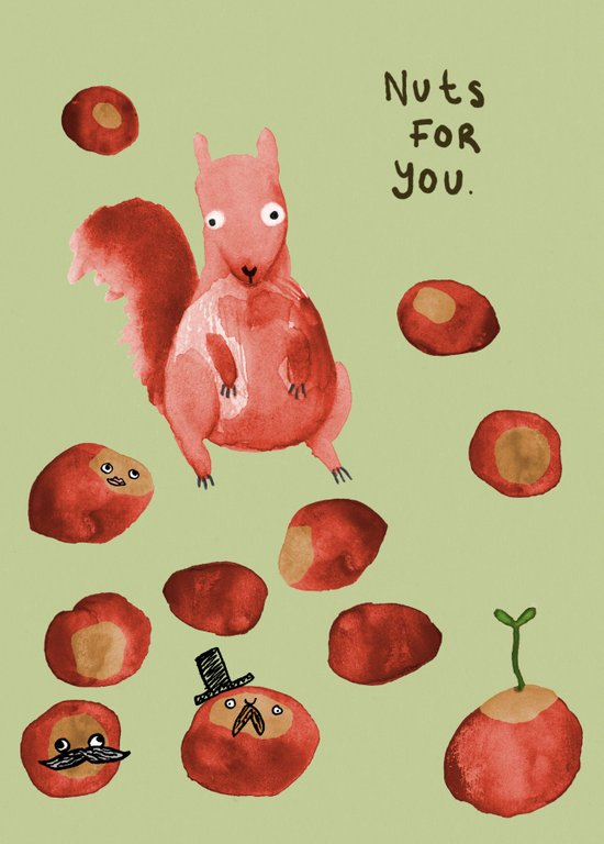 Nuts For You Art Print