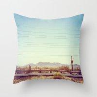 Throw Pillow featuring Desert by Whitney Retter