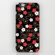Black Sakura Kimono Pattern iPhone & iPod Skin