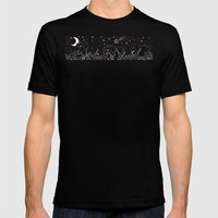 Elephant and comet Mens Fitted Tee Black SMALL