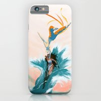 iPhone Cases featuring Katara and Aang by Imogen Scoppie