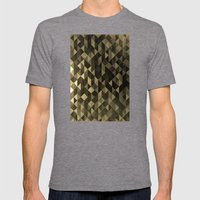 Gold triangles Mens Fitted Tee Tri-Grey SMALL