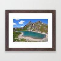 Alpine Blue Framed Art Print