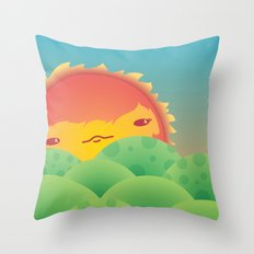 Sunlit Hills Throw Pillow