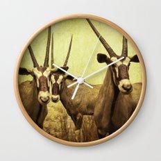 Antelopes Wall Clock
