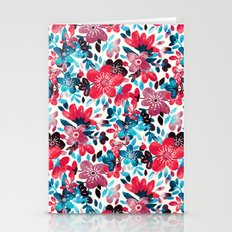 Happy Red Flower Collage Stationery Cards