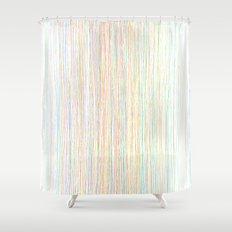 Modern Trendy Colorful Hand Drawn Line Art Shower Curtain