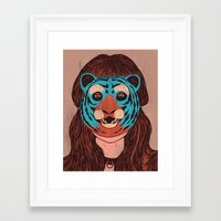 Tiger Face Framed Art Print
