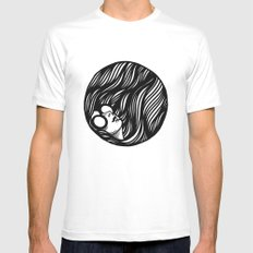 Circle Lady 2 Mens Fitted Tee White SMALL