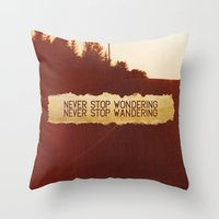 Wonder + Wander. Throw Pillow