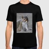 Squirrel Mens Fitted Tee Black SMALL