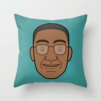 Faces Of Breaking Bad: G… Throw Pillow