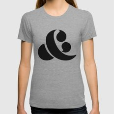 Ampersand Womens Fitted Tee Athletic Grey SMALL