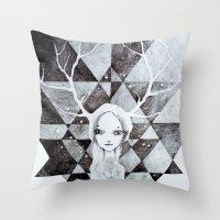 tystnaden Throw Pillow