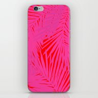 Palms Pink & Red iPhone & iPod Skin