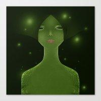 Woman_snake Canvas Print