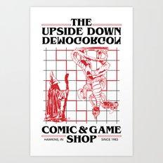 The Upside Down Demogorgon - Stranger Things Have Happened Art Print