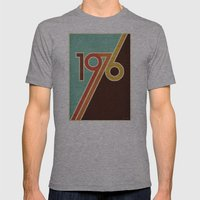PORTAL Mens Fitted Tee Athletic Grey SMALL