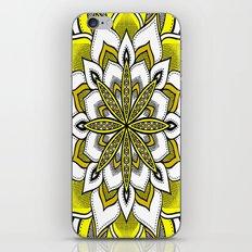 Yellow Flower Mandala iPhone & iPod Skin