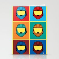 Warhol's Red vs Blue Stationery Cards