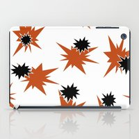 Stars (Orange & Black on White) iPad Case