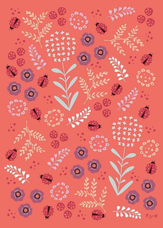 Little Ladybugs Art Print