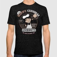 The Happy Cannibal Mens Fitted Tee Tri-Black SMALL