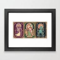 Nintendo Nouveau (art Pr… Framed Art Print