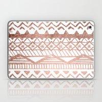 Faux rose gold handdrawn trendy tribal aztec pattern Laptop & iPad Skin