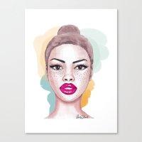 Big brown eyes Canvas Print