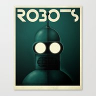 Robots - Bender Canvas Print