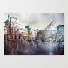 Le Louvre - Paris - Watercolor Canvas Print