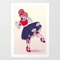 Rockabilly Futakuchi Peggy Art Print