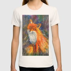 Fox Womens Fitted Tee Natural SMALL