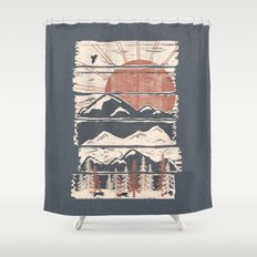 Winter Pursuits... Shower Curtain