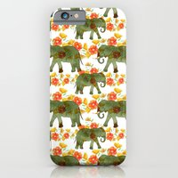iPhone & iPod Case featuring Wading Elephants by virginia odien