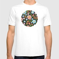 Ditsy Millefiori Pattern Mens Fitted Tee White SMALL