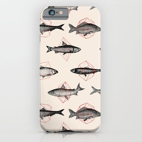 Fishes In Geometrics (Red) iPhone & iPod Case