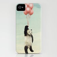 iPhone 4s & iPhone 4 Cases featuring pandaloons by vin zzep