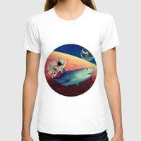 shark T-shirts featuring Shark by Cs025