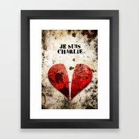 Je Suis Charlie Graphic Framed Art Print
