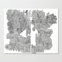 Squigglies Canvas Print