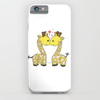 iPhone & iPod Case featuring Giraffes in Love by Emma's Designs