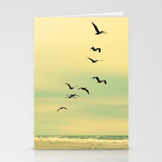 Across the Endless Sea Stationery Card