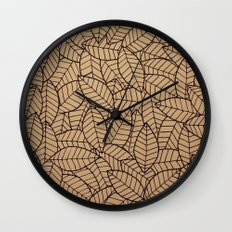 Lots-o-Leaves Wall Clock