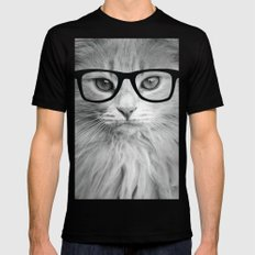 THE HIPPEST CAT Mens Fitted Tee Black SMALL