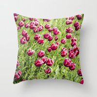 Tulips will remember  Throw Pillow