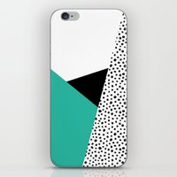Geometric Modern Triangles with Spots iPhone & iPod Skin