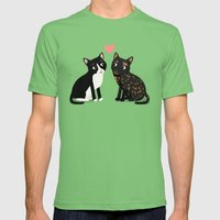 Custom Cats Mens Fitted Tee Grass SMALL